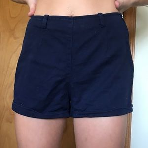 Forever 21 Navy high waisted denim shorts size S